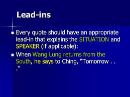 Lead Ins For Quotes Lead Ins For Quotes Custom Designing With Leadins Creativepro 56