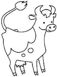 Small Picture Cow coloring pages for preschool ColoringStar