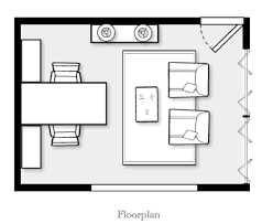 home office plan. In This 7 X 10ft (2.13 3m) Home Office Floor Plan Two People Sit Opposite Each Other. Person Has 5 1½ft (1.52 0.46m) Of Desk Space With \u2026