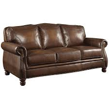 coaster montbrook leather sofa with