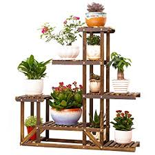 Floral Display Stands Classy Amazon UNHO Wooden Flower Stands Plant Display Stand Wood Pot