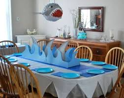 shark table setting shark party