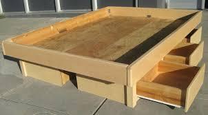 Diy Platform Bed With Storage Build Platform Bed Storage Drawer