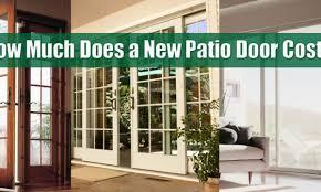 replacement patio doors cost