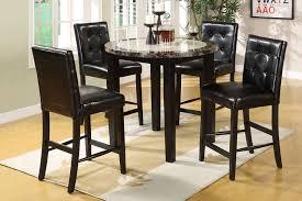 atlas round faux marble pub table with 4 pub chairs cm3188rpt