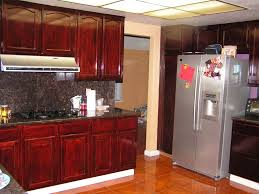kitchen grey stained cabinets stone color polished maple satin br pull hardwares oak wood base cabinet