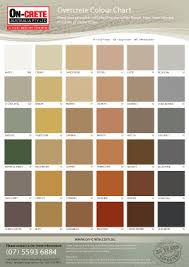 Overcrete Resurfacing System Brochures Colour Charts
