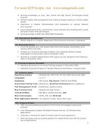 sample resume for manual testing manual testing sample resumes