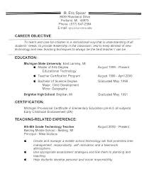 Objective For Resume Teacher Best of Resume Objective Sample For Engineering Teaching Career Change R Yomm