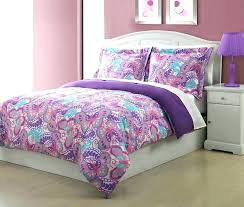 purple twin bedding set and turquoise sets comforter microfiber kids paisley