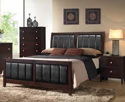 contemporary bedroom furniture chicago. Modren Furniture Espresso Bed With Black Upholstered Headboard Intended Contemporary Bedroom Furniture Chicago U