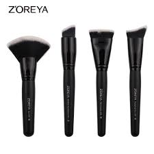 zoreya brand super women foundation make up brushes set professional flat contour makeup brush tools fan brush set makeup brush sets makeup foundation from
