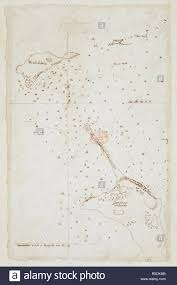 Chart Of Gardiners Island And Plum Island Situated Off The