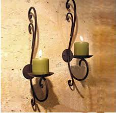 2pcs pack european style metal candle
