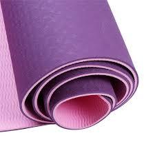 <b>TPE Yoga</b> Mat <b>Non Slip</b> Dual Layer Eco Friendly Exercise Fitness ...