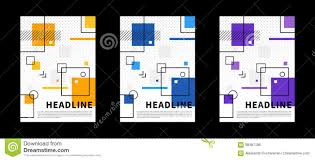 Vertical Title Pages For Presentation Stock Vector Illustration Of