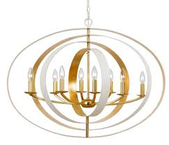 crystorama luna 8 light matte white antique gold chandelier