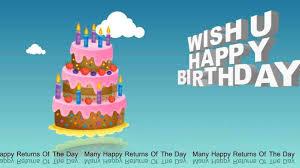 Happy Birthday 3d Animation Free Download Hd Free Printable