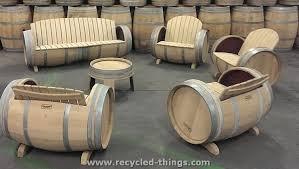 wood barrel furniture. Upcycled Wine Barrel Furniture Wood I