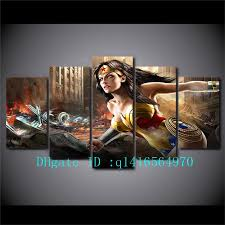 2018 comics wonder woman canvas prints wall art oil painting home decor unframed framed from q1416564970 15 38 dhgate com on wonder woman canvas wall art with 2018 comics wonder woman canvas prints wall art oil painting home