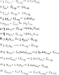 balancing equations worksheet physical science page basic chemical answers