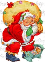 Vintage Santa Image Download Santa Claus Clipart Santa Printable Image Santa With Baby Christmas Card Download Christmas Clipart Santa Digi