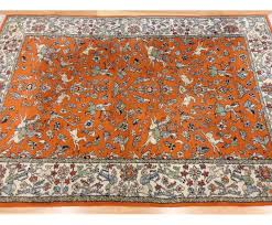 orange persian rug cievi home