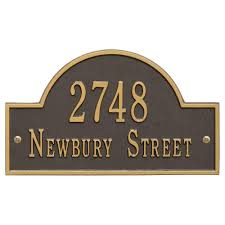 home address plaques. Whitehall Products Arch Marker Standard Bronze/Gold Wall 2-Line Address Plaque Home Plaques T