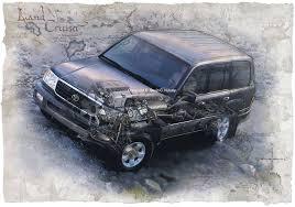 Toyota Land Cruiser illustration.