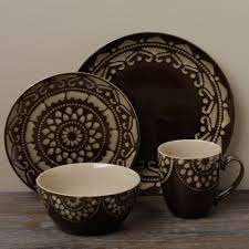 Tabletop Gallery Morocco Brown 16 Piece Dinnerware Set
