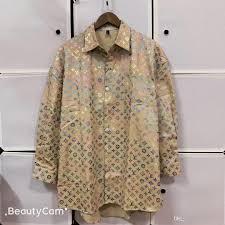Dhgate Designer Shirts 2019 2019 New Mens Designer Shirts Letter Business Casual Shirt Men Dress Shirts Long Sleeved Medusa Retro Striped Luxury Print Polo Shirt From