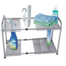Kitchen Sink Shelf Organizer Amazoncom 2 Tier Expandable Adjustable Under Sink Shelf Storage