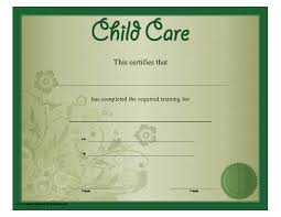 babysitting certificates a floral green child care certificate recognizing training