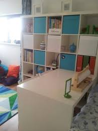 playroom and guestroom combined using ikea expedit move desk along expedit to creat a larger bedroom area when guests stay craft room bonus room playroom office