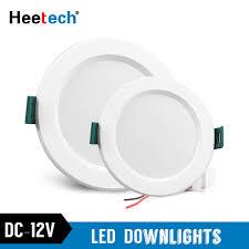 12v Recessed Led Lights Dc 12v Led Downlight 5w 9w 12w 15w 18w Led Ceiling Recessed Grid Downlight Round Recessed Light Low Voltages 12 Volts Lighting 12v Led Downlights