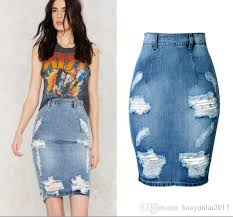 Womens plus size denim skirt