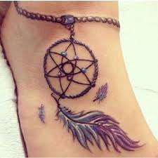 Dream Catcher Foot Tattoos