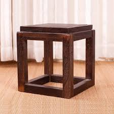 Japanese Antique Wooden Stool Chair Paulownia Wood Small Asian