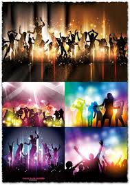 Vectors Silhouettes Party People Silhouettes Vectors