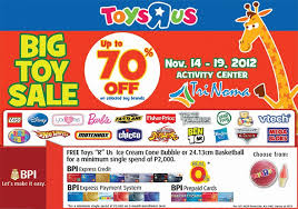 Toys R Us Big Toy Sale at Trinoma Activity Center November 2012 ...