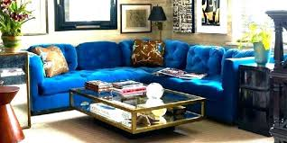 blue velvet sectional.  Sectional Blue Velvet Sectional Royal Couch    Intended Blue Velvet Sectional