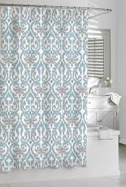Grey And Teal Shower Curtain