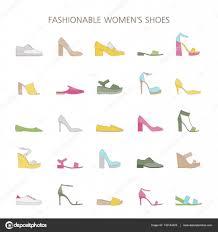 流行の靴の種類を設定しますレディースはコレクション ストック