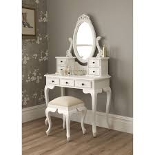 Mirrored Living Room Furniture Nice White Single Oval Mirror Vanity Dresser For Makeup Table