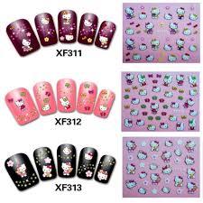Cute Hello Kitty Nail Art Sticker Decal glitter 5 styles to choose ...