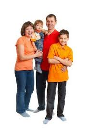 <b>Happy Family Studio</b> Full Length Portrait On White Stock Photo ...