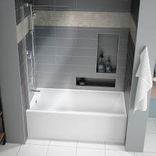 home muse acrylic alcove bathtub no faucet drillings