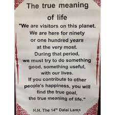 Essay On The Meaning Of Life The Meaning Of Life Quotes Quotes Wall Hangings Dalai Lama