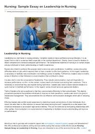 premiumessays net nursing sample essay on leadership in nursing nursing sample essay on leadership in nursing premiumessays net articles