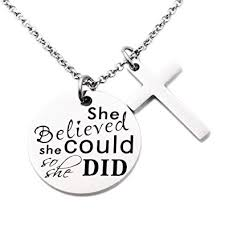 Jewelry Quotes Inspiration Amazon Negret Necklace Chain Cross Pendant Inspirational